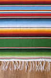 Mexican background serape blanket copy space vertical. Mexican background with traditional serape blanket or rug on a wood floor.  Space for copy Stock Photography