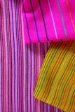 Mexican serape colorful macro fabric texture Stock Photos