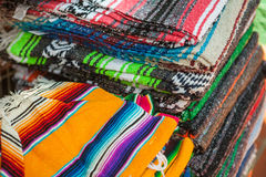 Mexican serape fabric colorful pattern texture Royalty Free Stock Photos