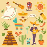Mexican set Royalty Free Stock Images