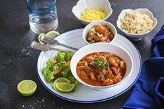 Mexican shrimp stew royalty free stock images