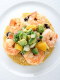 Mexican shrimp tostada Stock Photo
