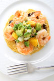 Mexican shrimp tostada Royalty Free Stock Photography