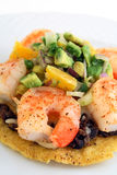 Mexican shrimp tostada Stock Image