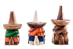 Mexican siesta guy statuette collection royalty free stock image