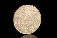 Mexican silver coin Royalty Free Stock Images
