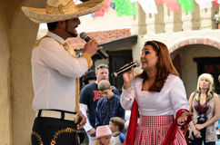 Mexican singer. High Chaparral Royalty Free Stock Photo