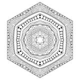 Mexican Six Sided Black And White Ornament Royalty Free Stock Image
