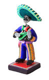 Mexican skeleton. A Mexican skeleton with a guitar royalty free stock photo
