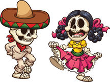 Mexican skeletons Royalty Free Stock Images