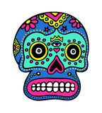 Mexican Skull Art. Design inspired by the sugar skulls used during the celebration of Día de Muertos Royalty Free Stock Photos