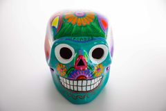 Mexican Skull, Mexican art, skull painting stock image