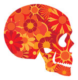 Mexican Skull Art Portrait Vector Illustration Royalty Free Stock Photo