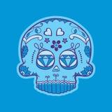 Mexican skull of day of dead vector illustration