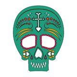 Mexican skull day of death icon. Vector illustration graphic design stock illustration