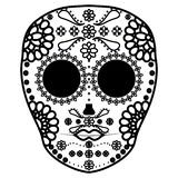 Mexican skull death mask stock illustration