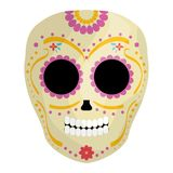 Mexican skull death mask vector illustration