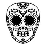 Mexican skull death mask. Vector illustration design royalty free illustration