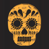 Mexican skull decoration Royalty Free Stock Photo