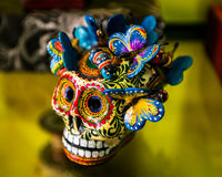 Calavera. Mexican skull, decorative craft used as a representation of death people in celebration of the day of the death Royalty Free Stock Images