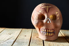 Mexican skull. Made of barro  (mud Royalty Free Stock Photography