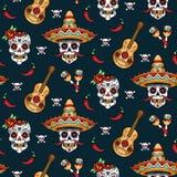 Mexican skulls royalty free illustration