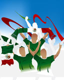 Mexican Soccer crowd Royalty Free Stock Photography
