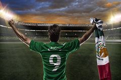 Mexican soccer player Royalty Free Stock Photos