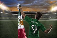 Mexican soccer player Stock Photography