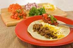 Mexican soft taco Stock Images