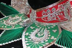 Mexican sombrero fiesta in flag colours Royalty Free Stock Photos