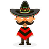 Mexican in a sombrero. Mexican hat, sombrero, mexican hat isolated, mexican hat vector Royalty Free Stock Photo