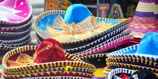 Mexican sombrero hats Stock Photo