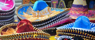 Mexican sombrero hats Royalty Free Stock Image