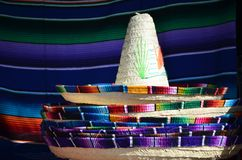 Mexican sombrero hats. Pile of Mexican sombrero hats royalty free stock images