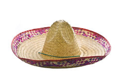 A mexican sombrero isolated on a white background. Side view stock photography
