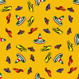 Mexican sombrero, vector seamless pattern Royalty Free Stock Photos