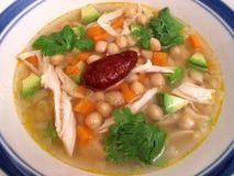 Mexican Soup (Caldo Tlalpeno) Royalty Free Stock Photos