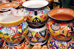 Mexican Souvenir Ceramic Pots Sedona Arizona Royalty Free Stock Photos