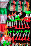 Mexican Souvenirs. In street market stock photography