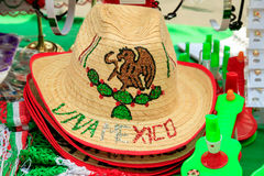 Mexican Souvenirs. In street market royalty free stock photo