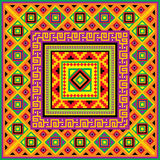 Mexican square background Royalty Free Stock Image