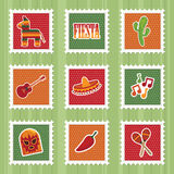 Mexican stamps Royalty Free Stock Images