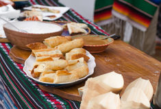 Mexican stand banana dessert Royalty Free Stock Photography