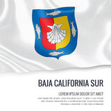 Mexican state Baja California Sur flag. Stock Image