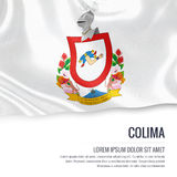 Mexican state Colima flag. Stock Photos