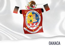 Mexican state Oaxaca flag. Stock Photography