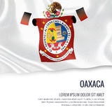 Mexican state Oaxaca flag. Stock Images