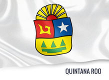 Mexican state Quintana Roo flag. Stock Photo