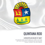Mexican state Quintana Roo flag. Stock Photos